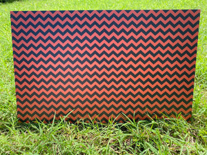 PatternPly Orange and Black Chevron