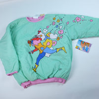 80s Deadstock Peter Max Reversible Sweatshirt - M