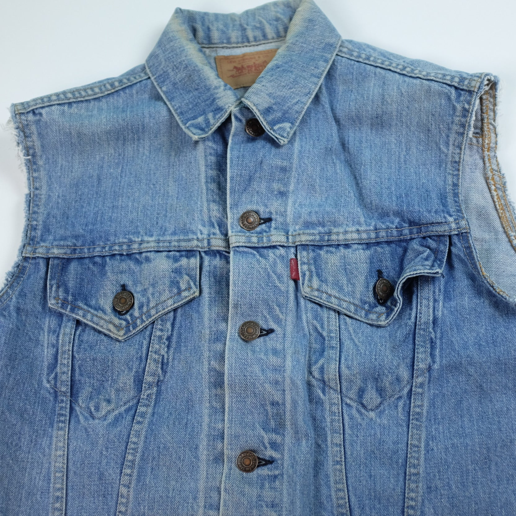 Levi's Big E Cut Off Denim Jean Jacket - S