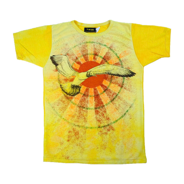70s Deadstock Hippie Sun and Bird T-Shirt - M