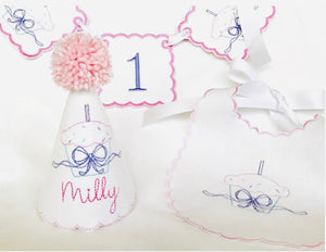 Sweetest Cupcake 1st Birthday Milestone Party Set - Personalized