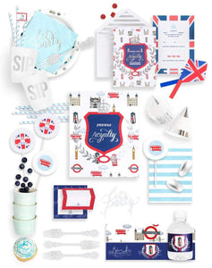 LONDON PARTY COLLECTION ROYAL PRINCE BIRTHDAY BOX - THE FANCY