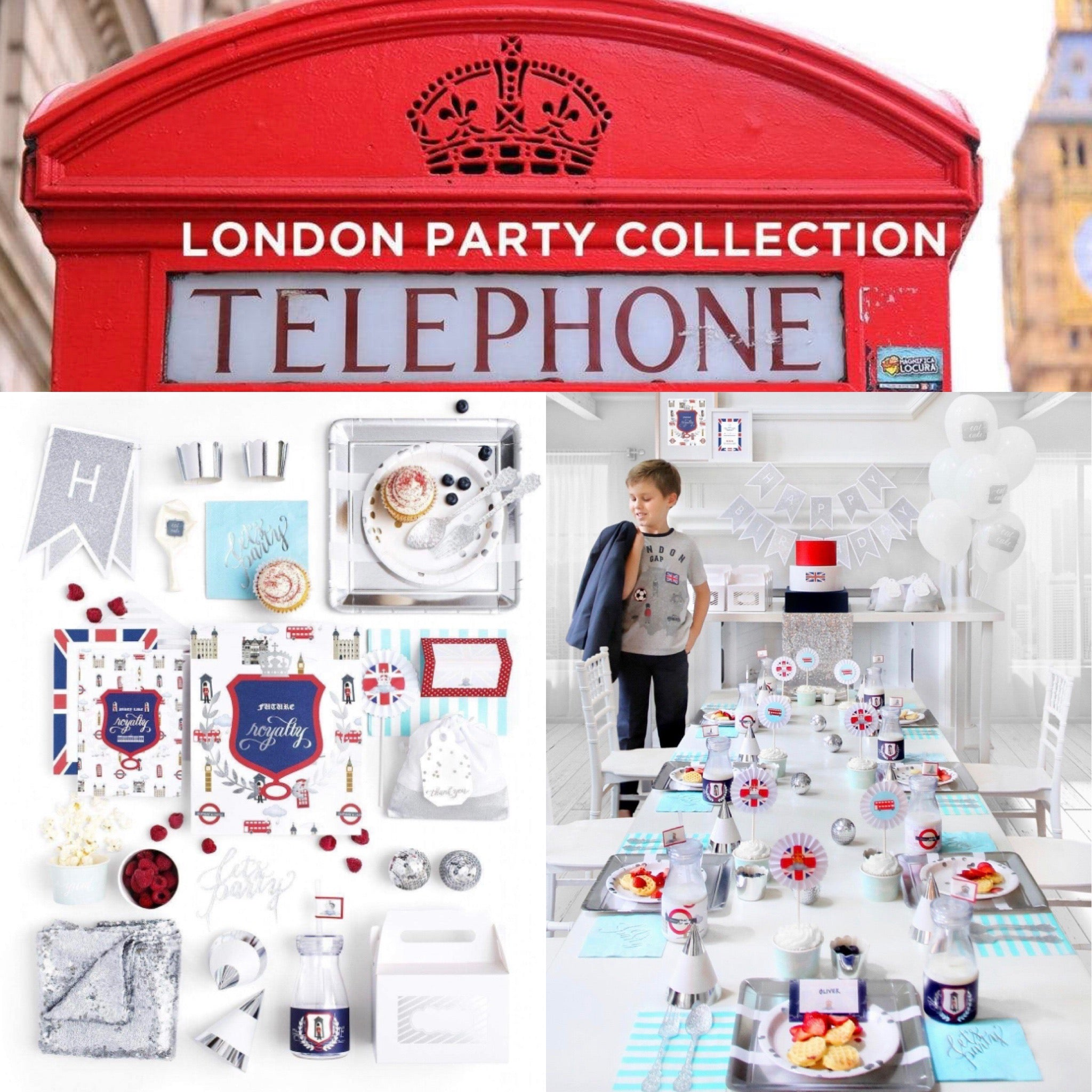 LONDON PARTY COLLECTION ROYAL PRINCE BIRTHDAY BOX - THE LUXE
