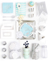 Load image into Gallery viewer, HUES OF BLUE PARTY COLLECTION BLUE SILVER PARTY IN A BOX - FOR KIDS