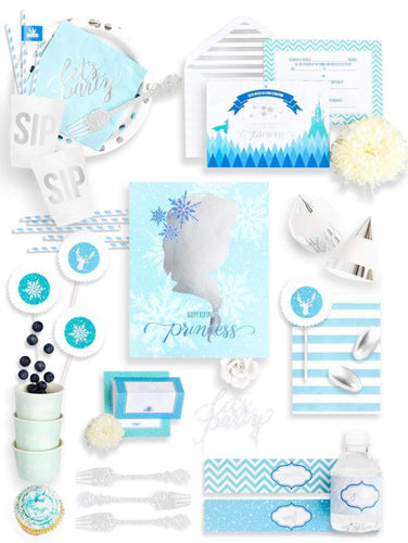 THE SNOW QUEEN PARTY COLLECTION FROZEN PARTY IN A BOX - THE FANCY