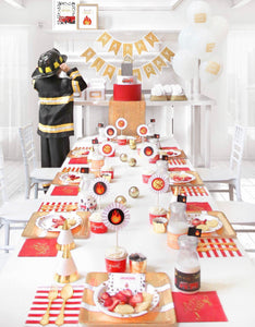 STOP, DROP & ROLL PARTY COLLECTION FIRE TRUCK PARTY IN A BOX - THE LUXE