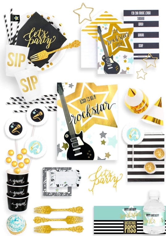 BACKSTAGE PASS PARTY COLLECTION ROCKSTAR PARTY IN A BOX - THE FANCY