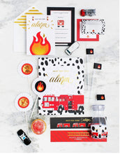 Load image into Gallery viewer, STOP, DROP & ROLL PARTY COLLECTION FIRE TRUCK PARTY IN A BOX - THE LUXE