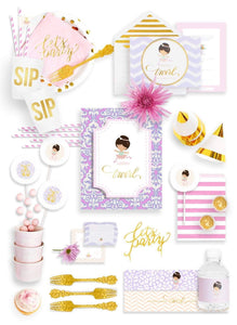 RECITAL DE BALLET PARTY COLLECTION BALLERINA PARTY BIRTHDAY BOX - THE FANCY