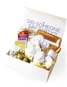 METALLICS PARTY COLLECTION GOLD PARTY IN A BOX
