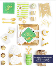 Load image into Gallery viewer, EMERALD LOVE PARTY COLLECTION GREEN GOLD PARTY IN A BOX