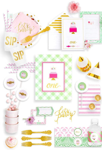 AS SWEET AS HER PARTY COLLECTION FIRST BIRTHDAY PARTY IN A BOX - THE FANCY