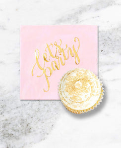 CRUSHING ON PINK PARTY COLLECTION PINK GOLD PARTY IN A BOX - FOR KIDS