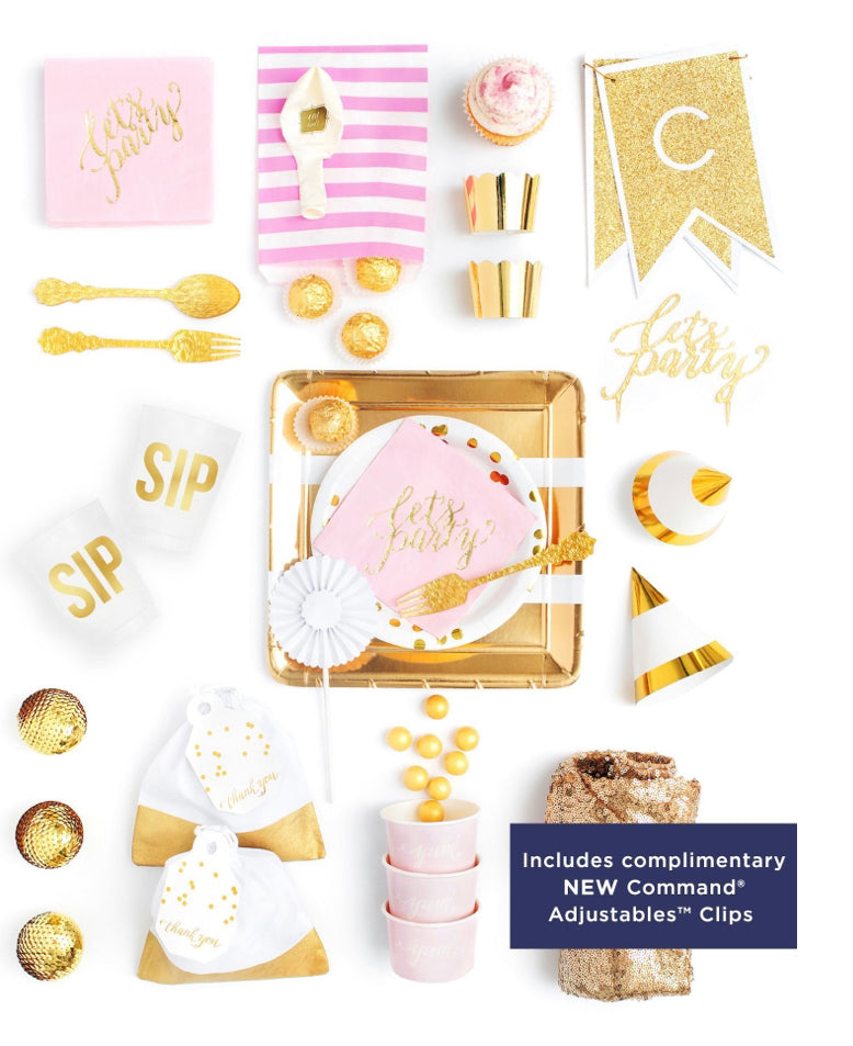 CRUSHING ON PINK PARTY COLLECTION PINK GOLD PARTY IN A BOX