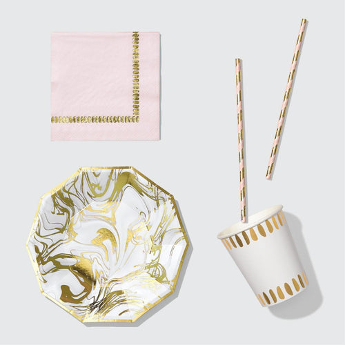 Carrara Marble At-Home Party Set For 10 Guests