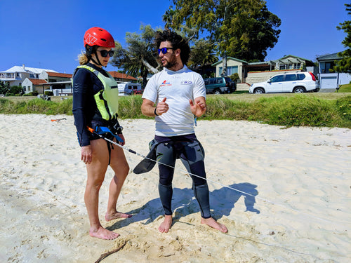 Personalised kitesurfing lesson on the Swan River in Perth