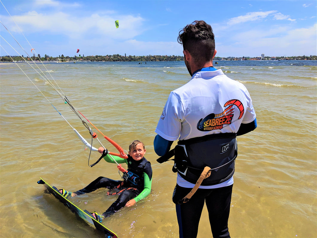Private kitesurfing lesson on the Swan River in Perth