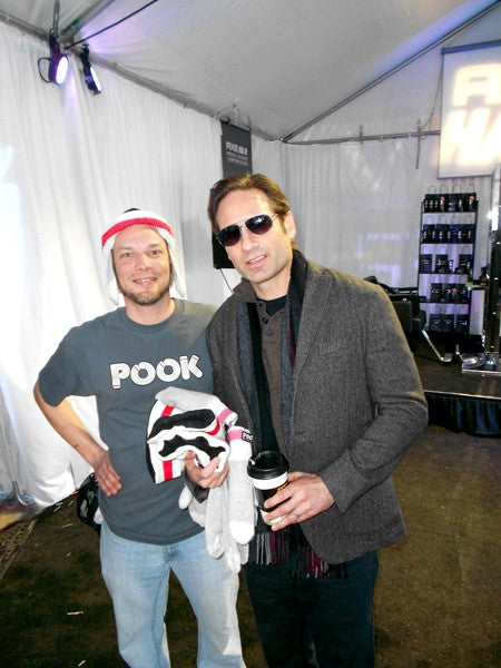 David Duchovny couldn't buy enough POOK, we think he's addicted…