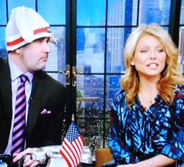 DJ Mauler on Live with Regis and Kelly rocking the Pook Toque!