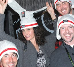 Movie star Andie MacDowell loves her Pook Toque!