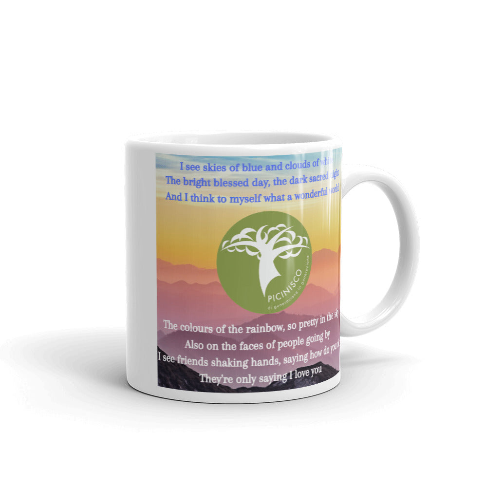 Load image into Gallery viewer, Picinisco Mug - What a wonderful world