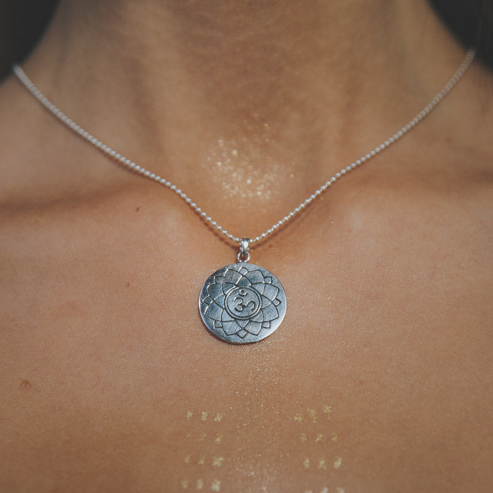'Focus your power' Pure Silver Chakra Amulet Necklaces
