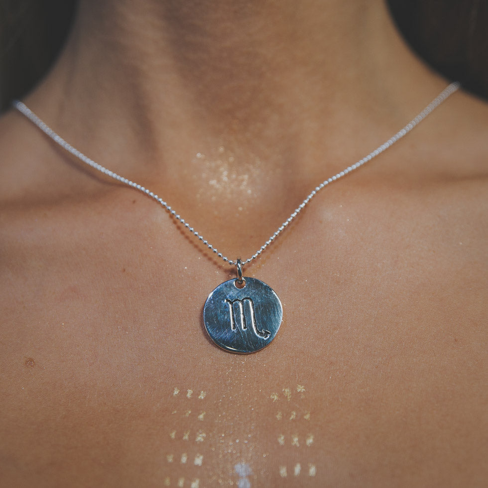 'What's your sign?' Pure Silver Amulet Necklaces