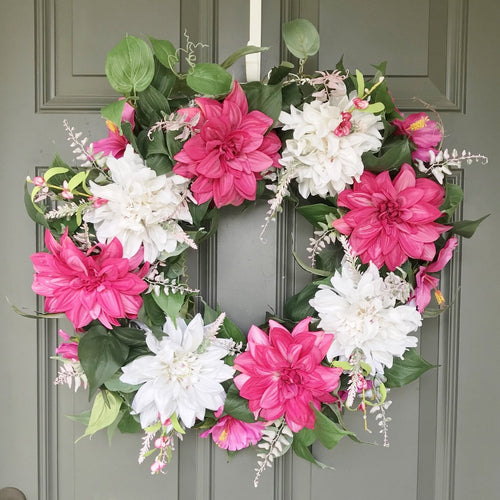 Faux Floral Wreath