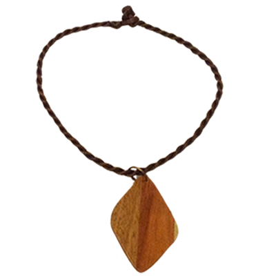 Wood Charm Necklace - Lacey Ann Collection