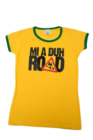 """Mi A Duh Road"" Womens Graphic Tee"