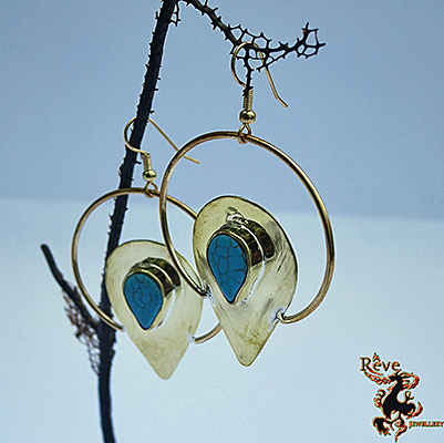 Halo Teardrop & Hoop Earring