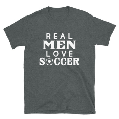 Real Men Love Soccer - T-Shirt - real men t-shirts, Men funny T-shirts, Men sport & fitness Tshirts, Men hoodies & sweats