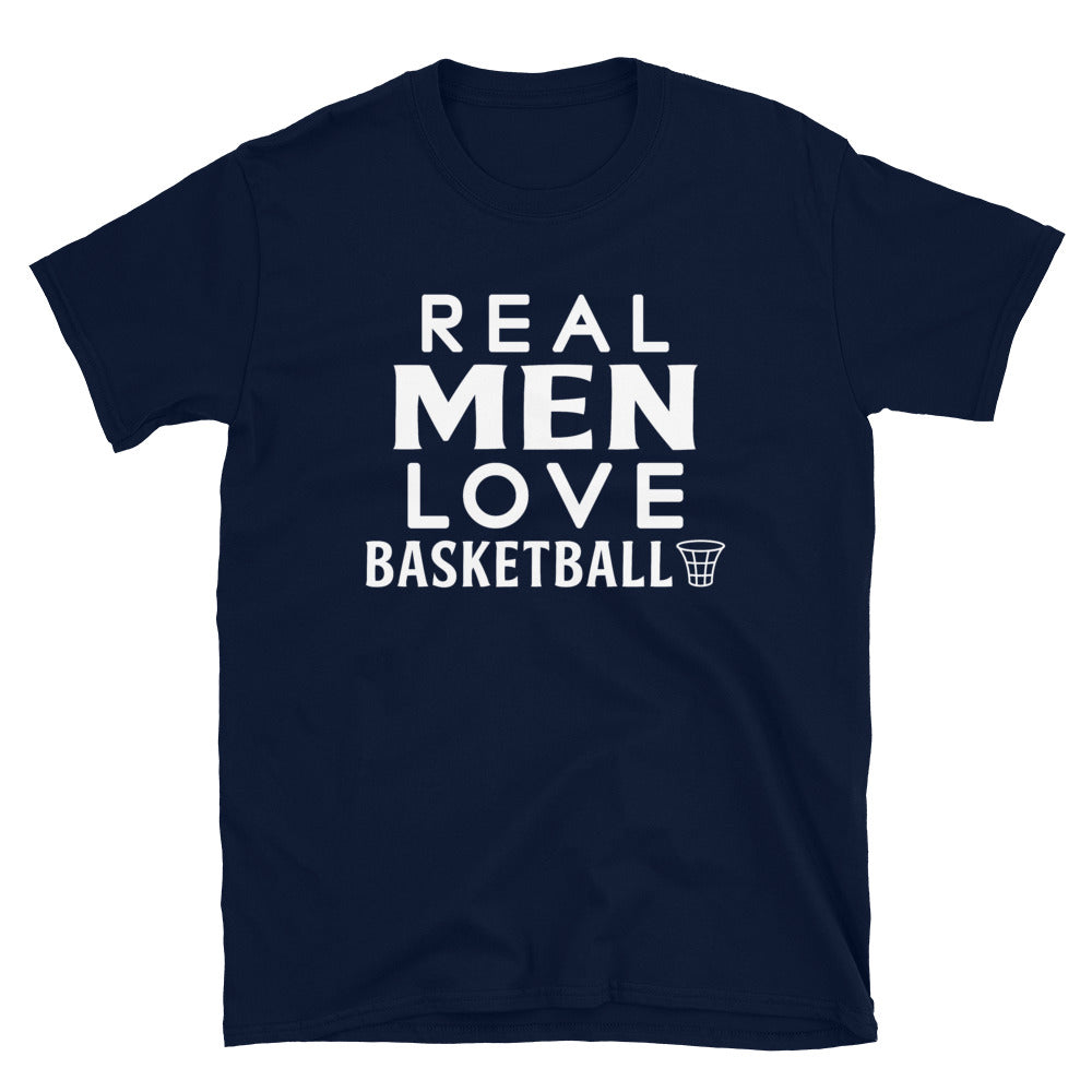 Real Men Love Basketball - T-Shirt - real men t-shirts, Men funny T-shirts, Men sport & fitness Tshirts, Men hoodies & sweats