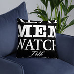 Real Men Watch The Bachelor Pillow - Black - real men t-shirts, Men funny T-shirts, Men sport & fitness Tshirts, Men hoodies & sweats