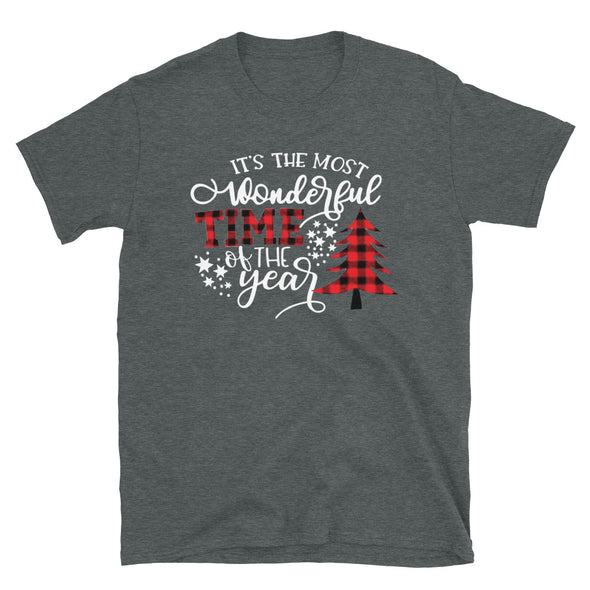 It's The Most Wonderful Time Of Year - Unisex T-Shirt, Plaid Christmas tshirt - real men t-shirts, Men funny T-shirts, Men sport & fitness Tshirts, Men hoodies & sweats