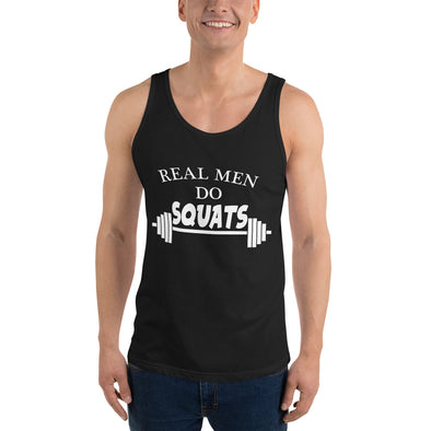 Real Men Do Squats Tank Top - real men t-shirts, Men funny T-shirts, Men sport & fitness Tshirts, Men hoodies & sweats