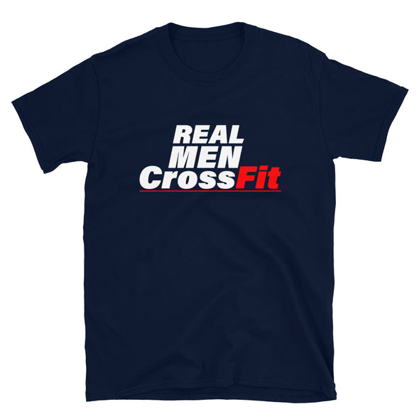 Real Men CrossFit - T-Shirt - real men t-shirts, Men funny T-shirts, Men sport & fitness Tshirts, Men hoodies & sweats