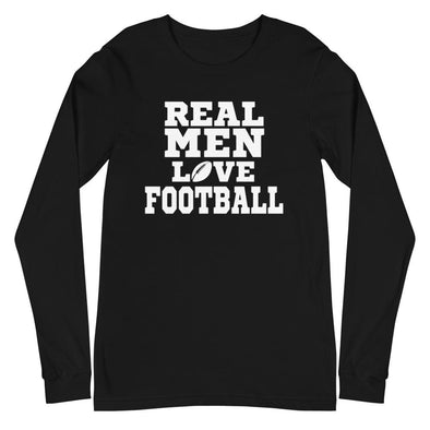 Real Men Watch Football - Long Sleeve Tee - real men t-shirts, Men funny T-shirts, Men sport & fitness Tshirts, Men hoodies & sweats