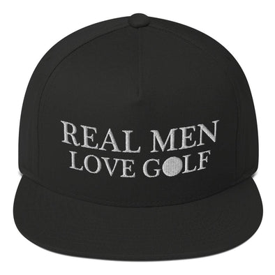 Real Men Love Golf - Snapback - real men t-shirts, Men funny T-shirts, Men sport & fitness Tshirts, Men hoodies & sweats