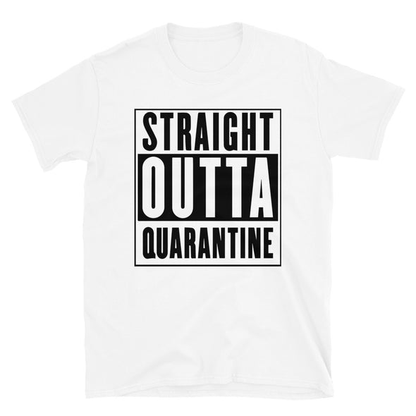Straight Outta Quarantine - T-Shirt - real men t-shirts, Men funny T-shirts, Men sport & fitness Tshirts, Men hoodies & sweats