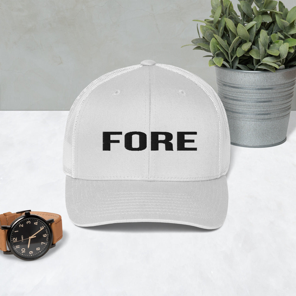 Fore - Trucker Cap, golf - real men t-shirts, Men funny T-shirts, Men sport & fitness Tshirts, Men hoodies & sweats