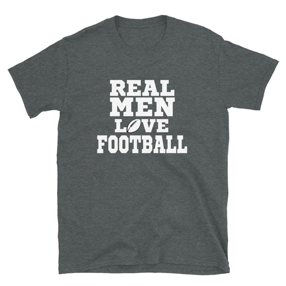 Real Men Love Football T-Shirt - real men t-shirts, Men funny T-shirts, Men sport & fitness Tshirts, Men hoodies & sweats