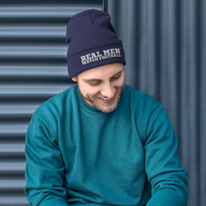 Real Men Watch Football- Beanie - real men t-shirts, Men funny T-shirts, Men sport & fitness Tshirts, Men hoodies & sweats