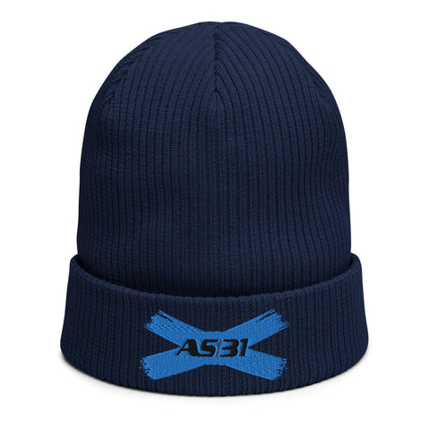 "AS31 Organic ribbed Beanie ""X""  (BIO)"