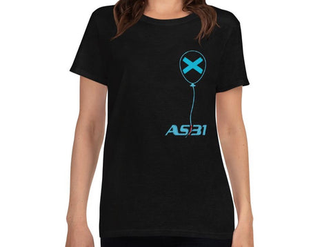 "AS31 Woman T-Shirt ""X"" mod. LOOSE Blue 7"