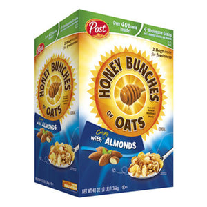 Bulk Honey Bunches of Oats with Almonds Cereal (48 oz Bag)