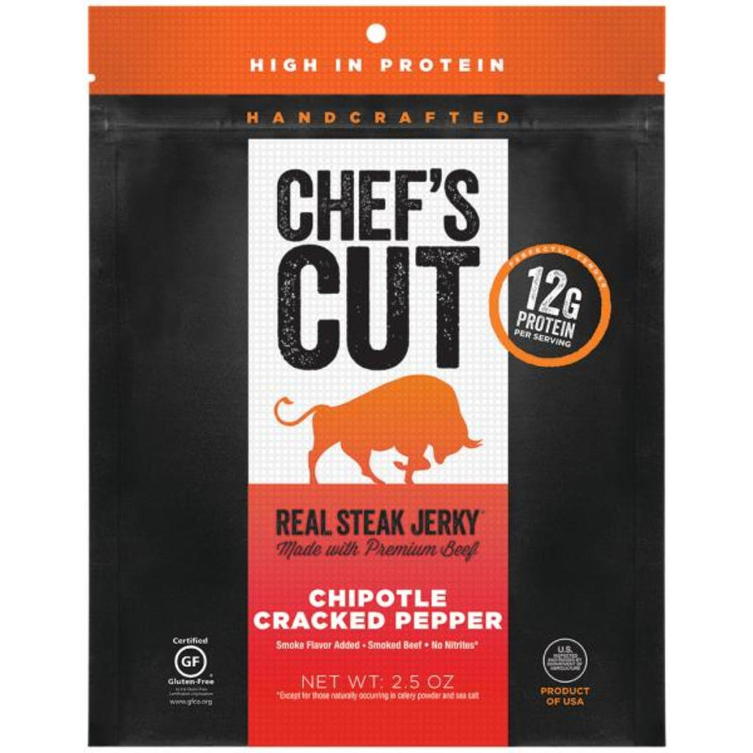 Chef's Cut Chipotle Cracked Pepper Beef Jerky (Box of 12 Packs)