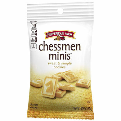 CHESSMAN MINI COOKIES 36/2.25OZ