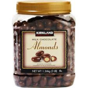 KIRKLAND MILK CHOC ALMONDS 3LB