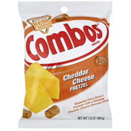 Combos Cheddar Cheese Pretzels Single-Serve Bags (Case of 18 Bags)